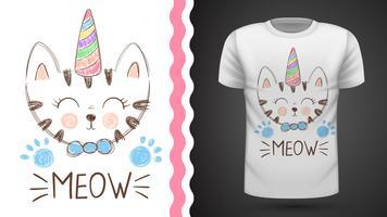 Gato bonito - ideia para o t-shirt da cópia.