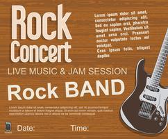 Fundo vintage retrô de concerto de rock vetor