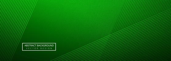 Linhas criativas verdes elegantes cabeçalho modelo fundo vetor