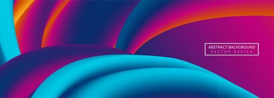 Fundo abstrato colorido onda bandeira vetor