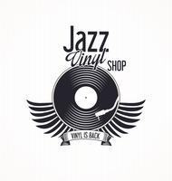 Fundo retro do registro de vinil do jazz vetor