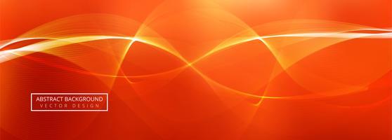 Design de modelo de banner de onda abstrata