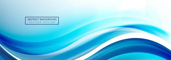 Design de banner elegante bela onda modelo