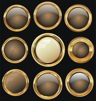 Venda de ouro rótulos coleção design retro vintage