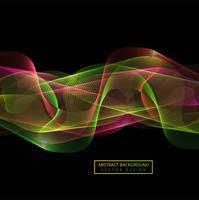 Fundo abstrato colorido onda de fumaça vetor