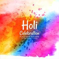 Feliz Holi Indian festival da primavera de cores de fundo vetor