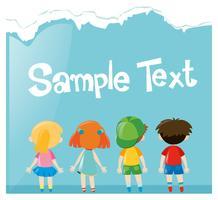Design de papel com muitas crianças vetor