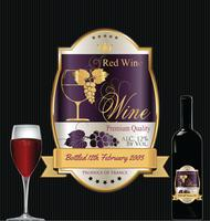 Rótulo de vinho dourado de luxo