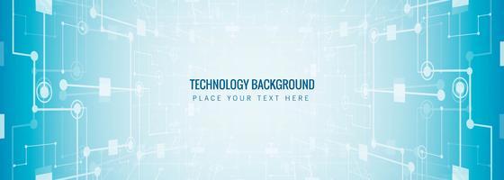 Fundo de modelo de banner abstrato tecnologia vetor