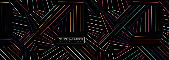 Linhas geométricas coloridas abstratas cabeçalho fundo vetor