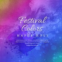 Feliz Holi celebração Indian Festival de cores vetor