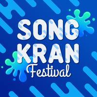 Festival tailandês de Songkran vetor