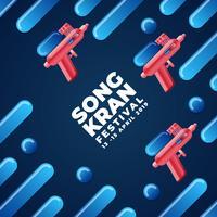 Tailândia Songkran Festival Design Background vetor