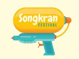 Festival Songkran vetor