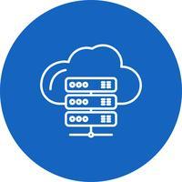Vector Server Nuvem ícone