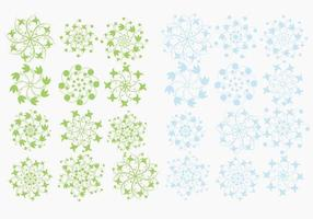Pack de vetores de flocos de neve florais