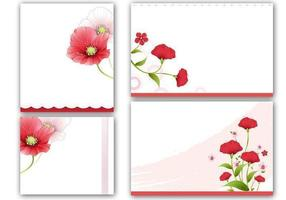 Papoulas Cartões e Vector Wallpaper Pack