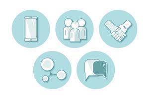 conjunto de comunicação de ícone plana de vetor. ilustração EPS10