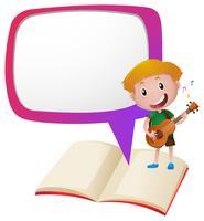 Modelo de fronteira com menino tocando violão vetor