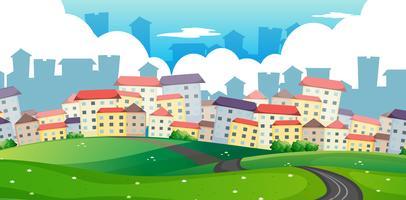 Um caminho para a cidade grande vetor