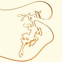 3D linha arte macaco animal ilustração, ilustração vetorial