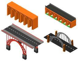 Projetos diferentes de pontes vetor