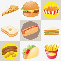 Diferentes tipos de alimentos vetor