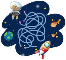 Modelo de jogo de astronauta de cão vetor