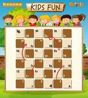 Crianças a bordo do modelo de jogo vetor