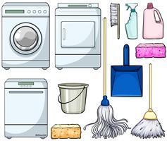 Objetos de limpeza vetor