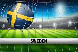 Copa do mundo de futebol da suécia vetor