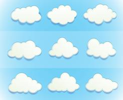 Nuvens no céu vetor