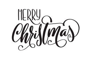Feliz Natal vector caligráfico Lettering texto para cartões de design. Poster de presente de saudação de feriado. Caligrafia moderna fonte