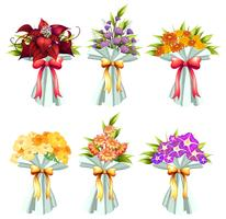 Cachos de flores vetor