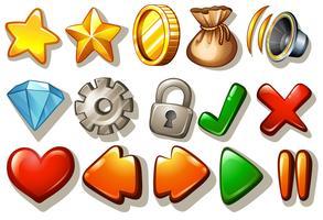 Conjunto de ícones de jogos vetor