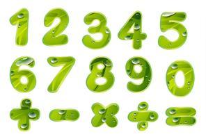 números e sinais vetor