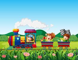 Viagem de trem vetor
