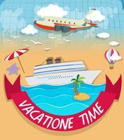 Design de logotipo com tema de férias