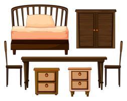 Móveis feitos de madeiras vetor