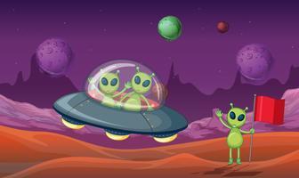 Três alienígenas descobriram novo planeta vetor