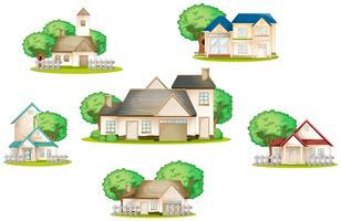 várias casas vetor