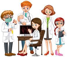 Médicos do sexo masculino e feminino juntos vetor