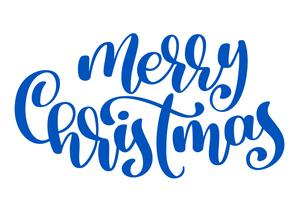 texto feliz Natal mão escrita letras de caligrafia. ilustração vetorial artesanal. Tipografia de tinta pincel divertido para sobreposições de foto, impressão de t-shirt, panfleto, design de cartaz