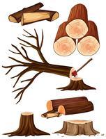 Um processo de cortar árvore vetor