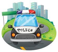 Carro de polícia vetor