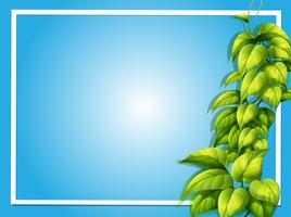 Modelo de quadro com planta verde vetor