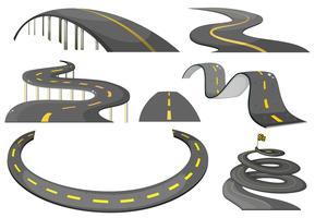 Conjunto estrada vetor