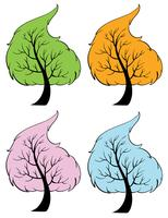 Árvores sazonais vetor