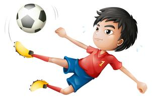 Um jogador de futebol vetor