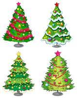 Quatro, natal, árvores vetor